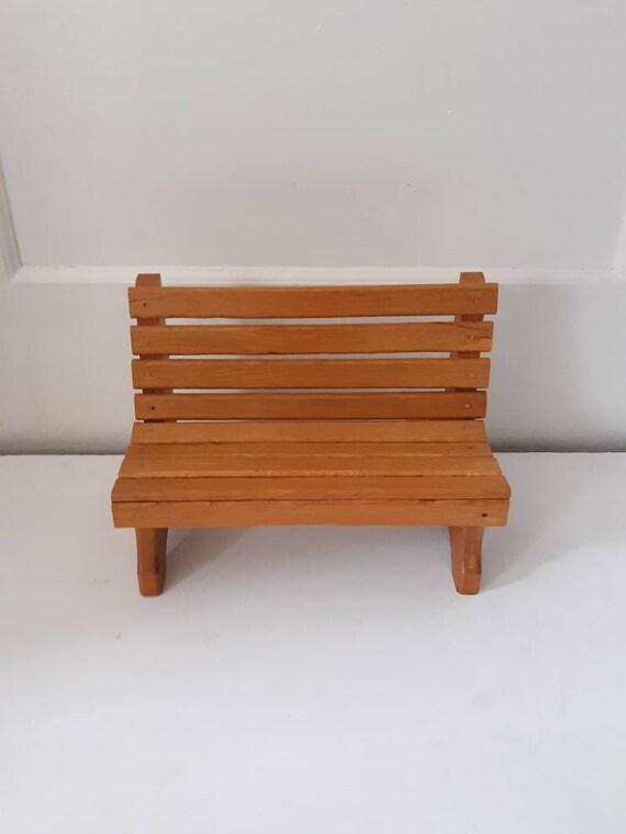 Pleasing Vintage Wooden Doll Bench Doll Furniture Toy Inzonedesignstudio Interior Chair Design Inzonedesignstudiocom