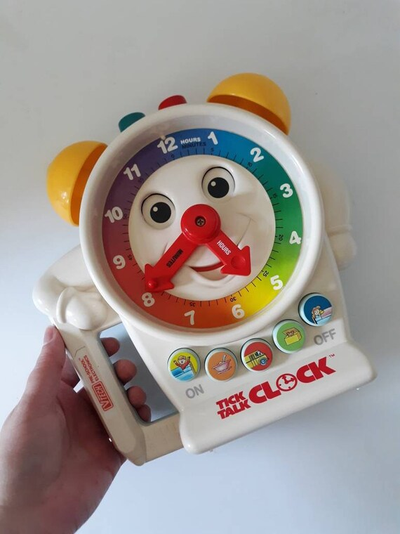 Vintage Vtech Tick Talk Clock, Anthropomorphic Toys