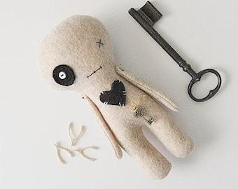 Voodoo Doll, Horror or Goth Doll, Creepy Plush Toy