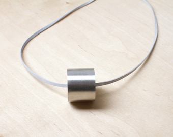 Aluminum Necklace Anniversary Jewelry Aluminum Jewelry Minimalist Necklace Solid Sphere