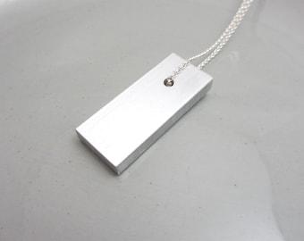 Minimalist Necklace Industrial Jewelry Design Aluminum Pendant
