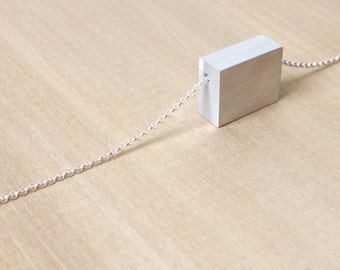Minimalist Necklace Contemporary Jewelry Aluminum Necklace Clarity Series II
