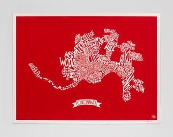 Cincinnati HoodMap (Red)