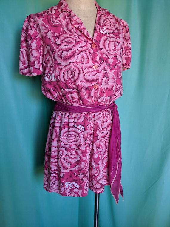 Floral in Pink Vintage Romper - image 10