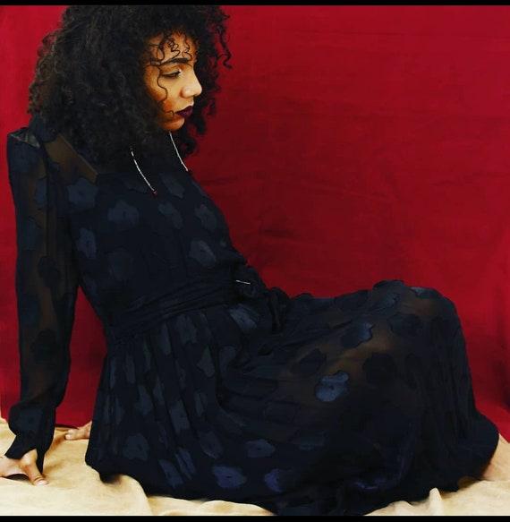 Sheer Black Vintage Dress