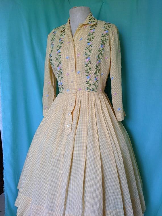 50s Yellow Vintage Dress
