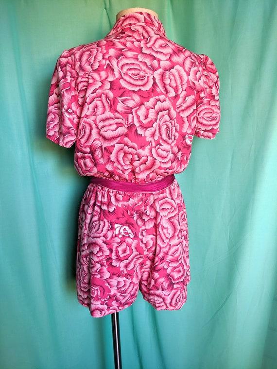 Floral in Pink Vintage Romper - image 4