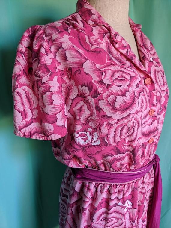 Floral in Pink Vintage Romper - image 9