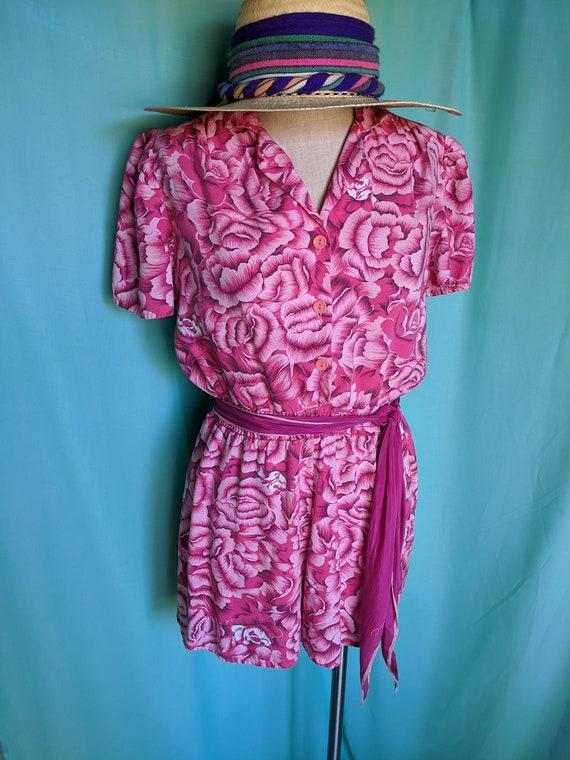 Floral in Pink Vintage Romper - image 6