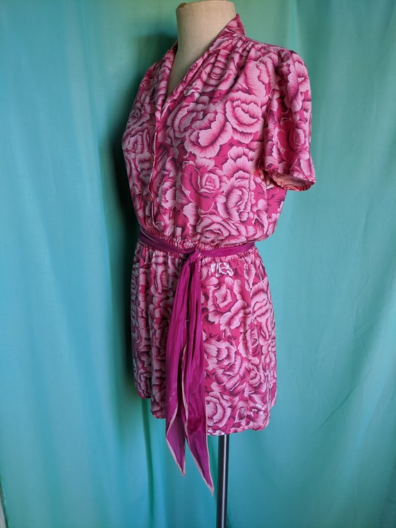 Floral in Pink Vintage Romper - image 7