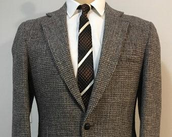 3b058982d2f7 Vintage MENS Harris Tweed for Sears black