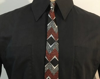 Naturally-Dyed Neck Tie 3 x 60 19.5mm Charmeuse  Black and Brown Hand-dyed with Recycled Botanicals 100/% Silk