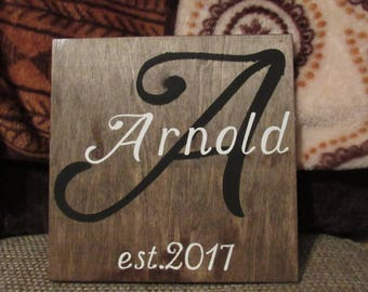 Personalized sign wedding gift