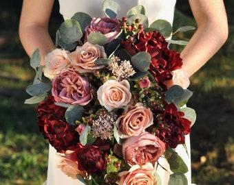 Silk wedding flowers, bridal bouquet, silk bouquet, wedding bouquet, artificial wedding bouquet, wedding flower bouquet, bridal bouquet