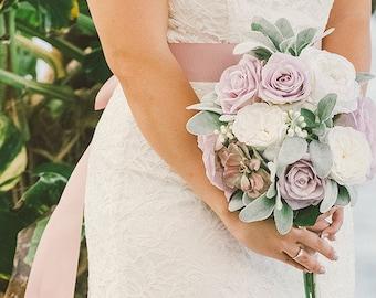 Wedding Bouquet, Wedding Flowers, Flower Bouquet, Rose, Succulent, Silk Flowers, Flower Bouquet, Bridal Bouquet, Boho, Bridesmaid Bouquet
