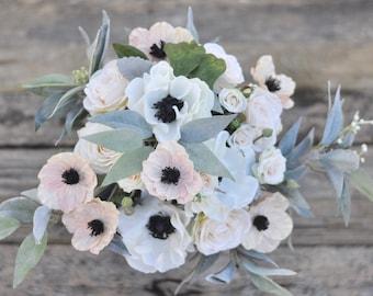 Blush Flowers, Wedding Bouquet, Wedding Flowers, Wedding, Artificial Silk Flowers, Flower Bouquet, Bridal Bouquet, Boho, Bridesmaid Bouquet