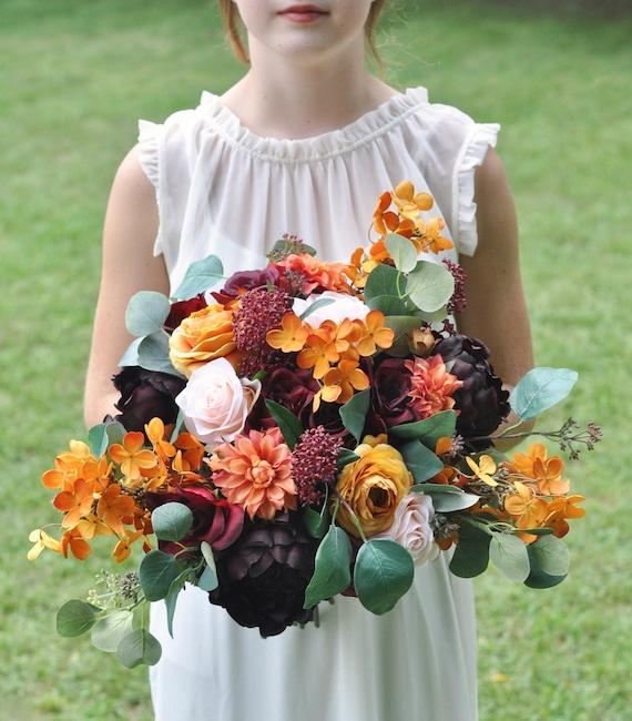 Wedding Bouquet Bridal Bouquet Silk Wedding Flowers Wedding Etsy