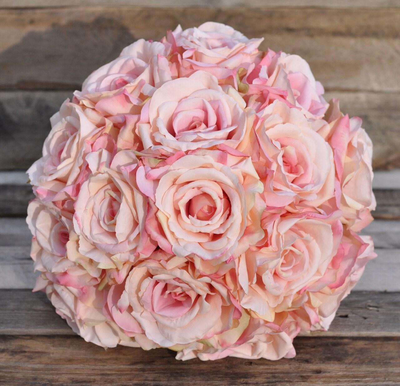Boho Bouquet Wedding Flowers Wedding Bouquet Silk Flower Etsy