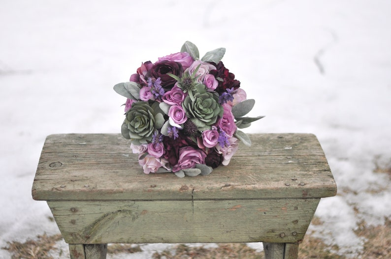bridal bouquet silk flowers destination wedding wedding flowers lavender,purple Purple wedding bouquet eucalyptus boho ranunculus
