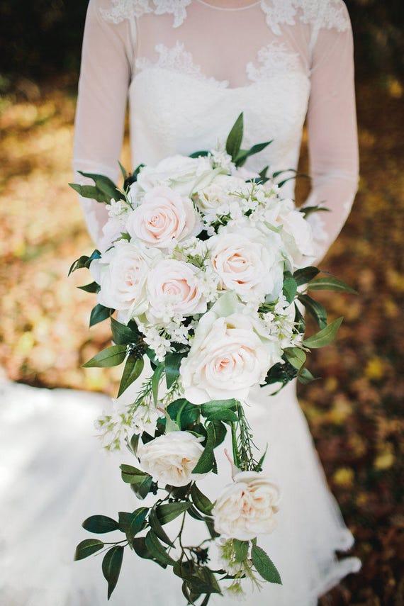 Wedding Bouquet Wedding Flowers Silk Flower Bridal Bouquet | Etsy