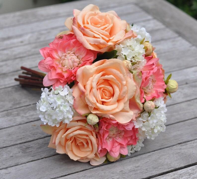 Flower Bouquet Wedding Flowers Artificial Silk Flowers Wedding Bouquet Bride Flowers Boho Wedding Bridesmaid Bouquet Bridal Bouquet