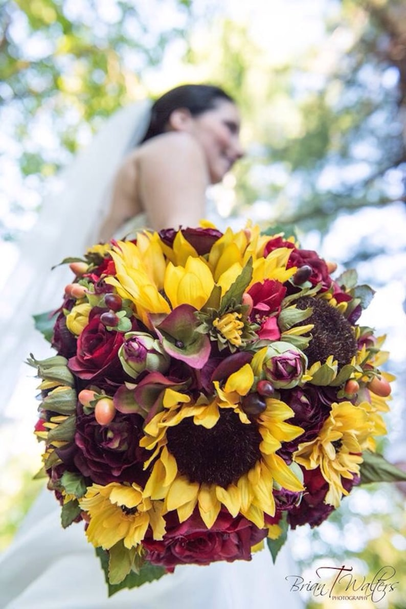 Fiori Matrimonio Girasoli : Handmade fiore artificiale fiore matrimonio sposa azienda fiori