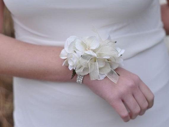 Ivory Rose Corsage Wedding Flowers Wedding Corsage Prom Etsy