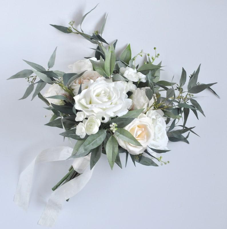 wedding flowers White bridal bouquet peony bridal flowers white roses wedding destination wedding silk flower wedding bouquet.