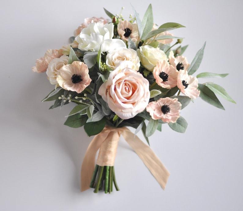 Silk Flowers Wedding Bouquets.Bridal Bouquet Wedding Flowers Wedding Wedding Bouquet Bridal Flowers Blush Roses Pink Roses Rose Bouquet Roses Silk Flower Bouquet