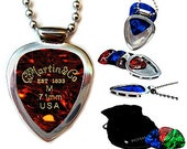 Guitar pick holder pendant necklace and MARTIN Sons guitar pick set Guitar Player gift Pickbay Classic Stainless Steel Set (authentic)
