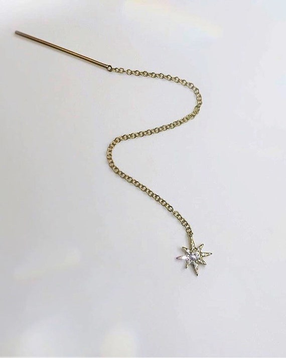 Star Threader Earring