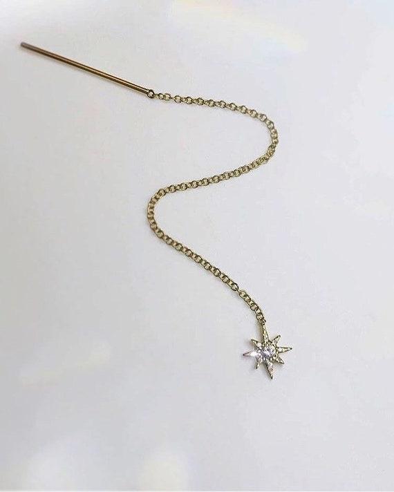 Star Threader Earring