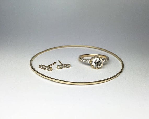 Gold Tinsel Bangle