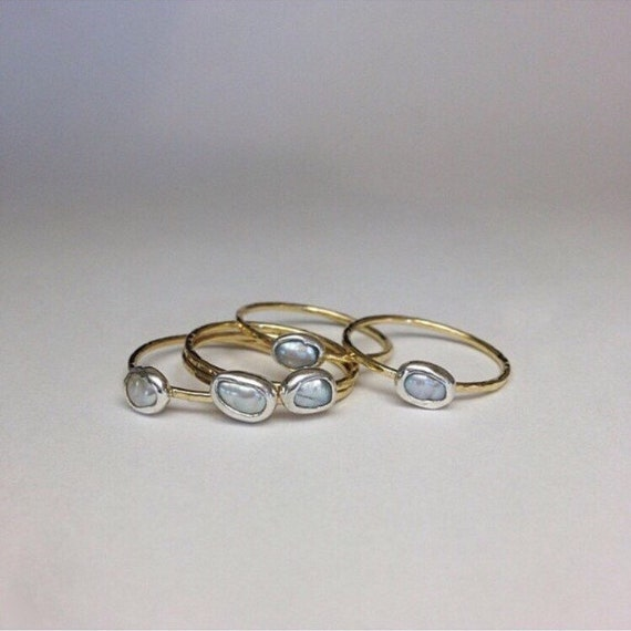 Pearl Stacking Rings (single)