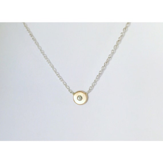 Tiny Treasures | Delicate Gemstone or Diamond Necklace