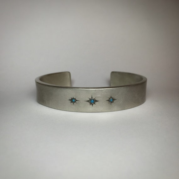 Starry Sky Sterling Silver Cuff
