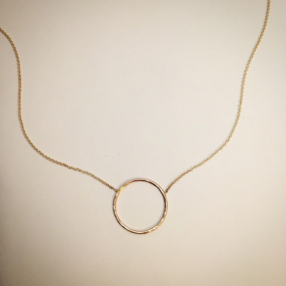 14k Hammered Everlasting Necklace