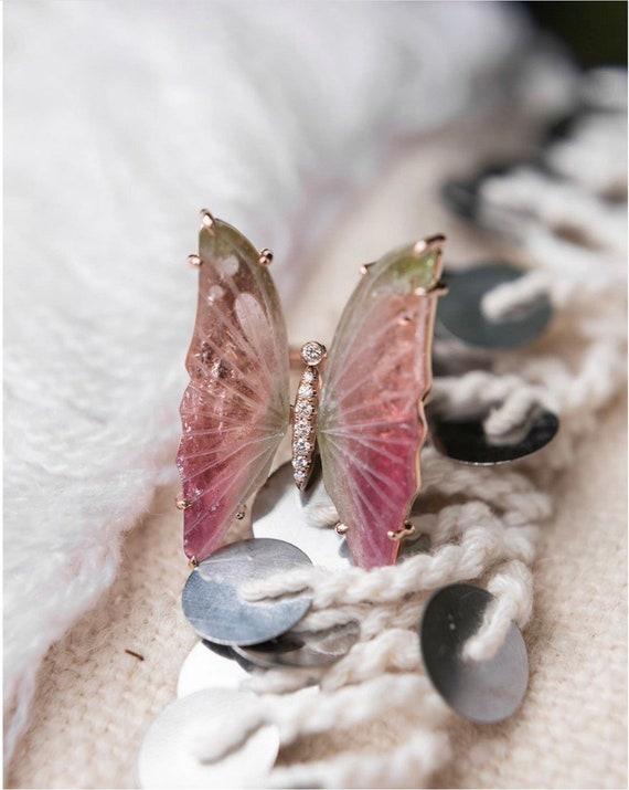 Tourmaline Butterfly Statement Ring