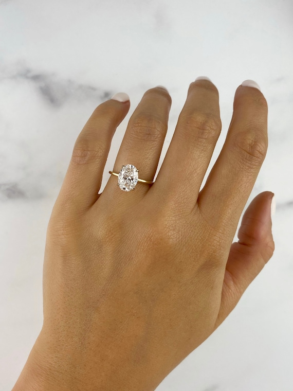 The Golden Thread Solitaire - Thin Engagement Ring