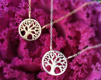 Mother of the Groom gift, Gift for mother in law from bride, mother of the groom, family tree necklace, silver necklace for mother of groom
