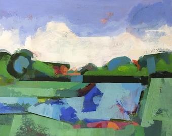 "Morning 3/ Original acrylic painting on canvas 20"" x 16"""