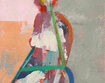 "Aria"" Original acrylic painting on canvas 6"" x 8"""