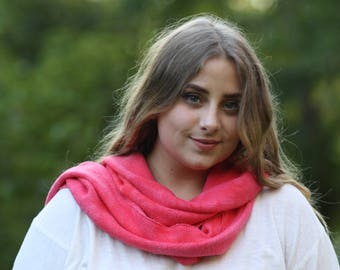 Soft red Bamboo Scarf. natural fiber fleece, not synthetic.... soooo soft. Sustainable guilt free ecofashion. unisex.