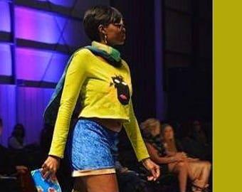 M Shorts. Blue and gold crush velvet lounge shorts. Stretchy velvet fabric. Loose fit. Ladies medium.