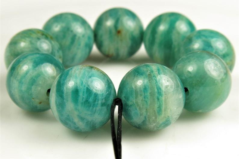~ originally 19.00 ~ Distinctive Beauty ~ Teal Blue Russian Amazonite Round Bead ~ 10mm ~ 9 beads ~ C4553 BARGAIN 10/% off