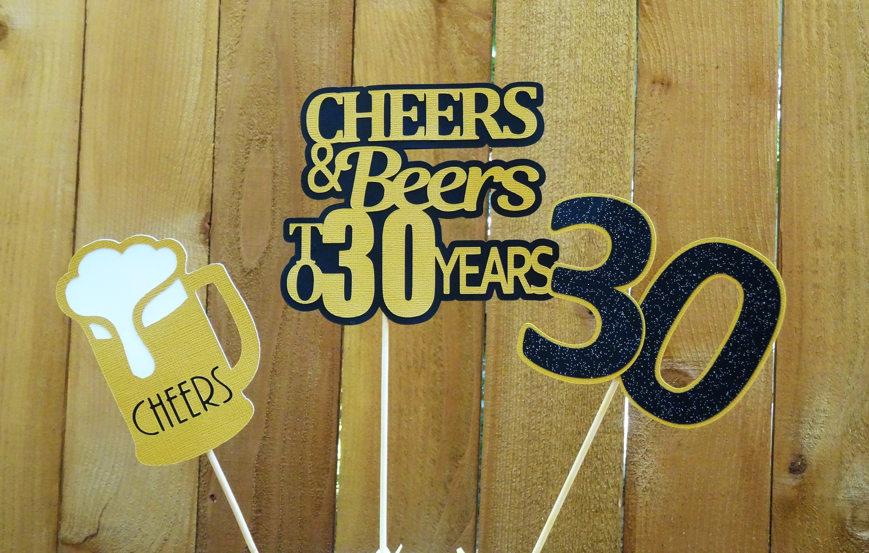 Fine Cheers And Beers Birthday Centerpieces Beer Cake Topper 21St Birthday 30Th Birthday 40Th Birthday Your Choice Age Download Free Architecture Designs Lukepmadebymaigaardcom