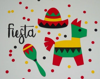 Fiesta Cut File, JPG, SVG, DXF for Cameo Silhouette, Cricut Design Space, Digital Cut Files, Cinco de Mayo, Mexican Party