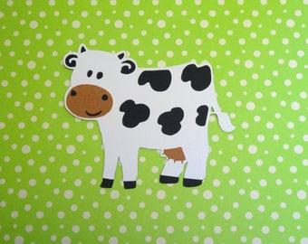 Cow SVG Cut File, SVG, DXF for Cameo Silhouette, Cricut Design Space, Farm Animal Cut File
