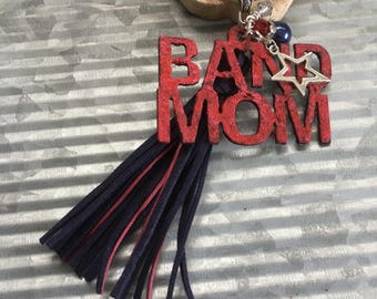 Red Band Mom Keychain and Tassel, Mother's Day Gifts