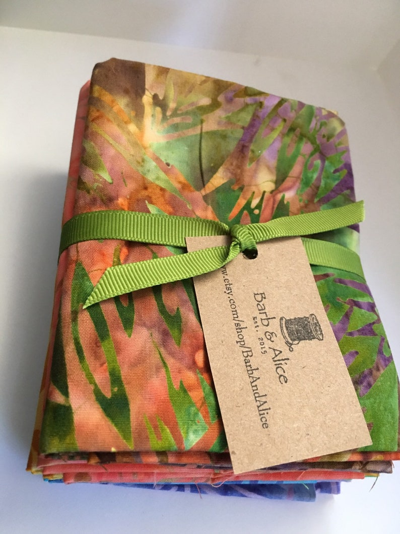 Short Stack Fabric Quilting Bali Batiks Fat Quarter Sewing